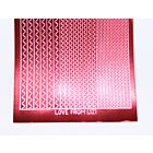 Sway Peel Off Stickers - Red Mirror
