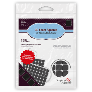 Regular Black Foam Squares - Scrapbook Adhesives