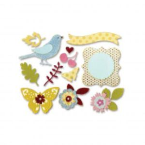 Sizzix Thinlits Die Set 23PK - Floral Wreath
