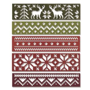 Sizzix Thinlits Die Set 5PK - Holiday Knit