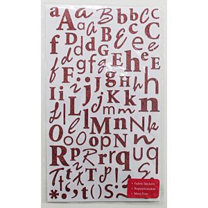 Glitter Alphabet Stickers - Ruby Red