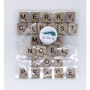 Merry Christmas Adhesive Letter Tiles