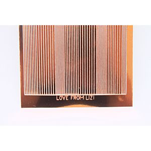Pin Stripe Peel-Off Stickers - Copper Mirror
