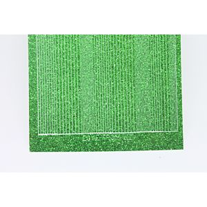 Pin Stripe Peel-Off Stickers - Green Glitter