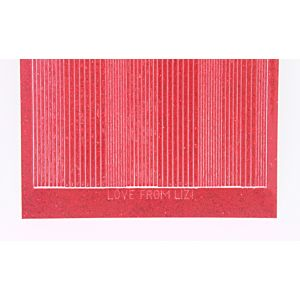 Pin Stripe Peel-Off Stickers - Red Glitter