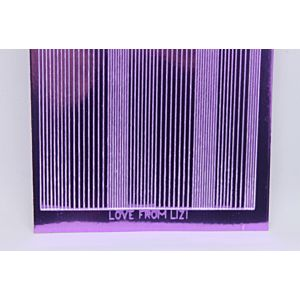 Pin Stripe Peel-Off Stickers - Lilac Mirror