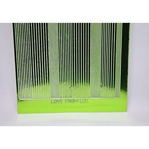 Pin Stripe Peel-Off Stickers - Grass Green Mirror