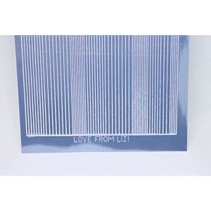 Pin Stripe Peel-Off Stickers - Ice Blue