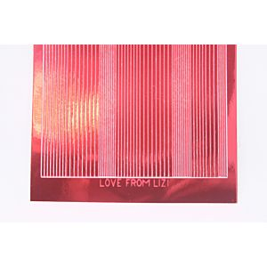 Pin Stripe Peel-Off Stickers - Red Mirror
