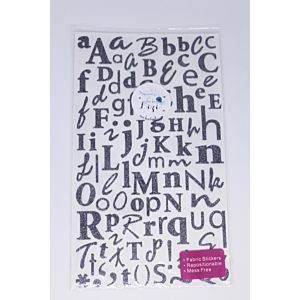 Glitter Alphabet Stickers - Grey