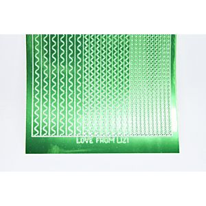 Sway Peel-Off Stickers - Green Mirror