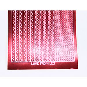 Sway Peel-Off Stickers - Red Mirror