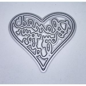 Blessed by your Love Heart Cutting Die