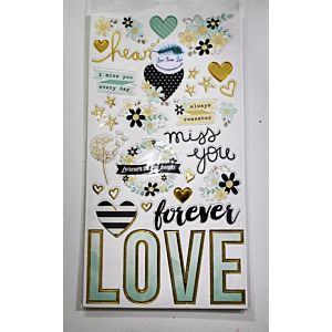 Sending Love Chipboard Stickers - June 19 Add On