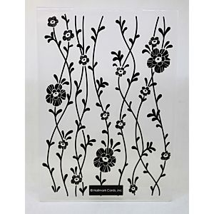 Vine Blossoms Embossing Folder - September 19 Add On
