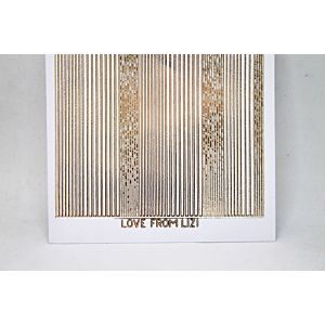 Pin Stripe Peel-Off Stickers - White/Gold Finish
