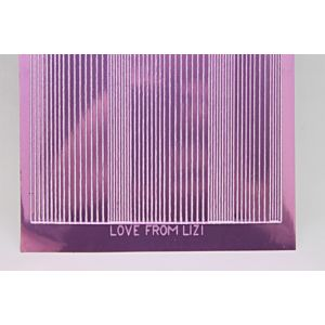 Pin Stripe Peel-Off Stickers - Mauve Mirror
