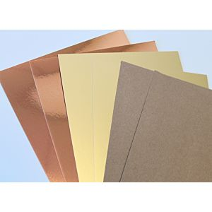 Home Sweet Home Kraft And Mirror Cardstock Bundle - October 19 Add On