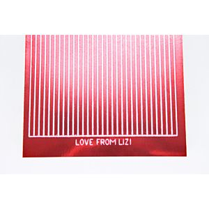 Straight Peel-Off Stickers - Red Mirror