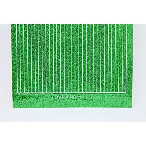 Straight Peel-Off Stickers - Green Glitter