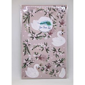 The Enchanted Lake Decoupage - Pink - November 19 Add On
