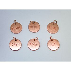 Simple Pleasures Sentiment Charms - December 19 Add On