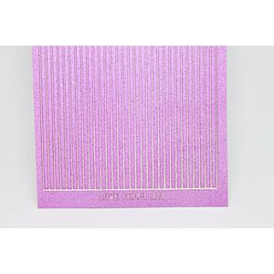 Straight Peel-Off Stickers - Mauve Moondust