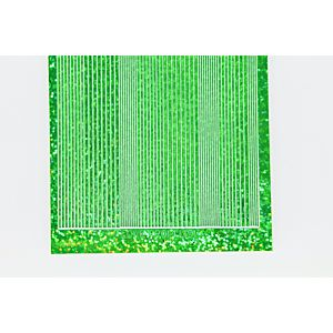 Pin Stripe Peel-Off Stickers - Green Holographic