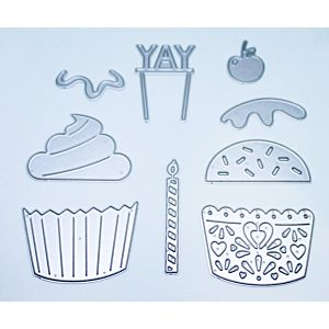 Build A Cupcake Cutting Dies - January 20 Add On