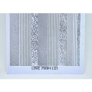 Pin Stripe Peel-Off Stickers - Ice Blue/Silver Finish