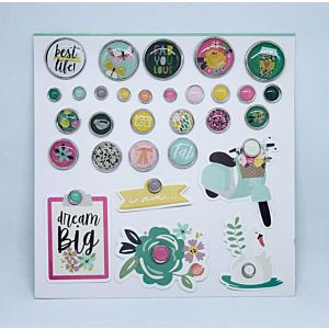 Enamel and Metal Brads - April 20 - Add-On