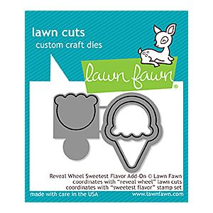 Sweetest Flavor Reveal Wheel add on - Lawn Cuts - Lawn Fawn
