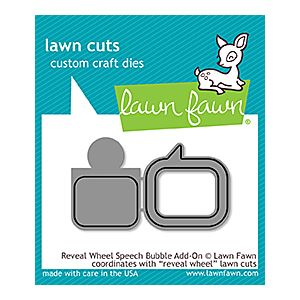 Speech Bubble Reveal Wheel add on - Lawn Cuts - Lawn Fawn