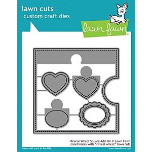 Reveal Wheel Square Add on - Lawn Cuts - Lawn Fawn
