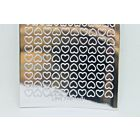 Mini Heart Peel-Off Stickers - Silver Mirror