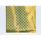 Mini Heart Peel-Off Stickers - Gold Mirror
