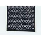 Mini Heart Peel-Off Stickers - Black Glitter