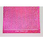 Straight Peel-Off Stickers - Pink Holographic