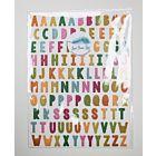 Tropical Escape - Glittered Alphabet Stickers