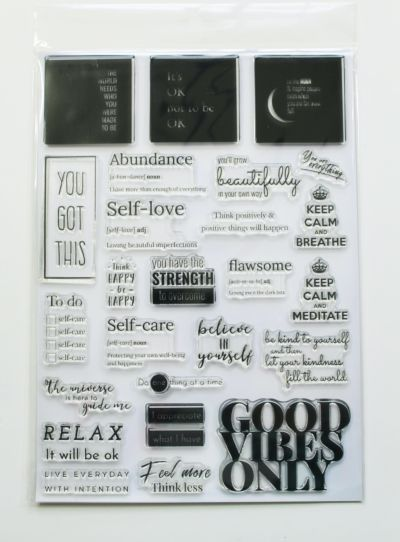 Good Vibes Only - LFL A4 Stamp Set
