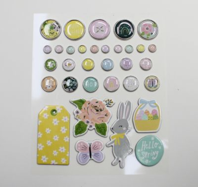Adhesive Brads And Chipboard Stickers - March 21 Add-On