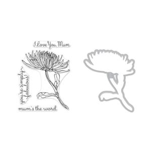 Hero Arts - Florals Mum Stamp And Die Combo