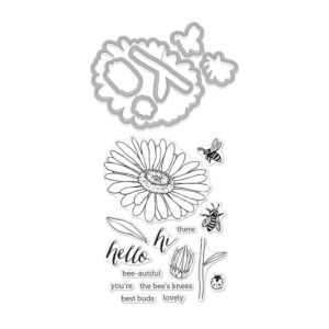Hero Arts - Florals Daisy And Bugs Stamp And Die Combo