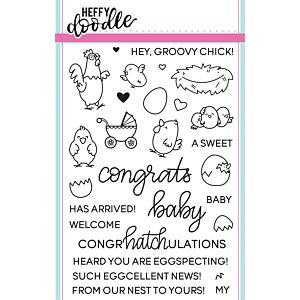 Eggcellent News Stamps - Heffy Doodle