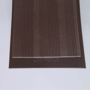 Pin Stripe Peel-Off Stickers - Brown