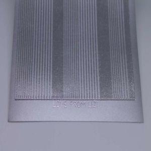 Pin Stripe Peel-Off Stickers - Silver