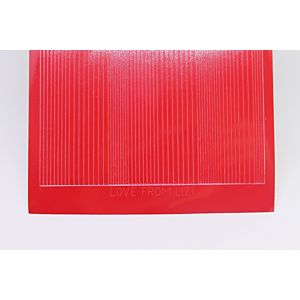 Pin Stripe Peel-Off Stickers - Red