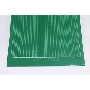 Pin Stripe Peel-Off Stickers - Green