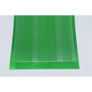Pin Stripe Peel-Off Stickers - Green Mirror