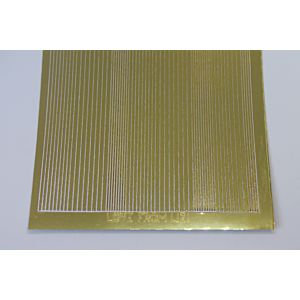 Pin Stripe Peel-Off Stickers - Gold Mirror
